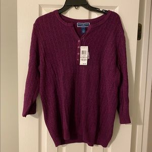Maroon Cableknit sweater